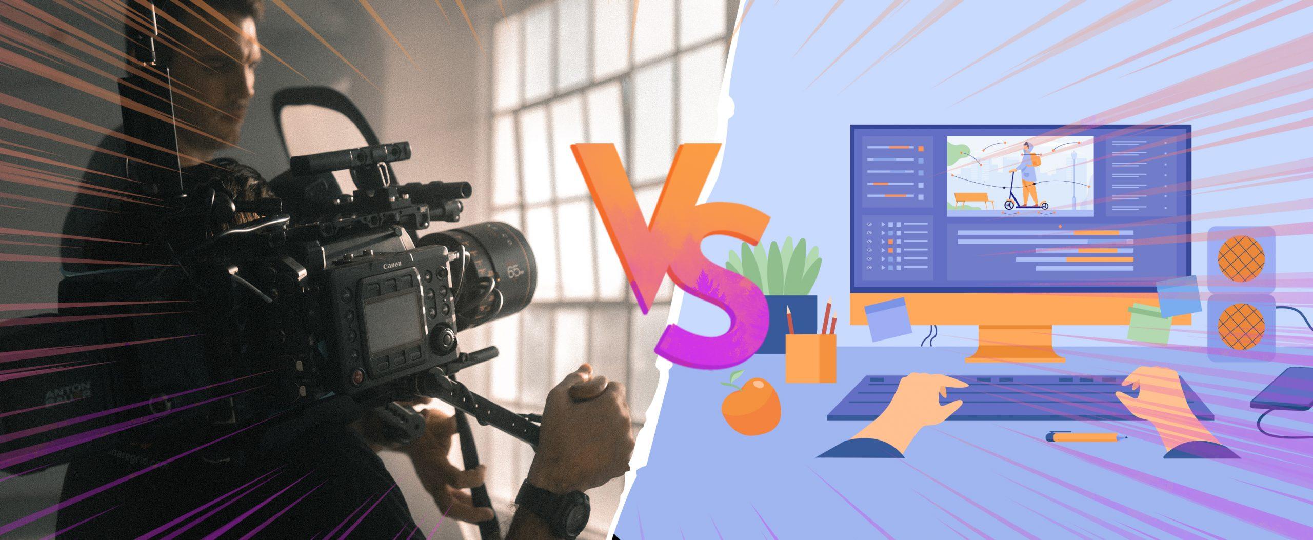 Tournage ou motion design pour votre video d'entreprise ?